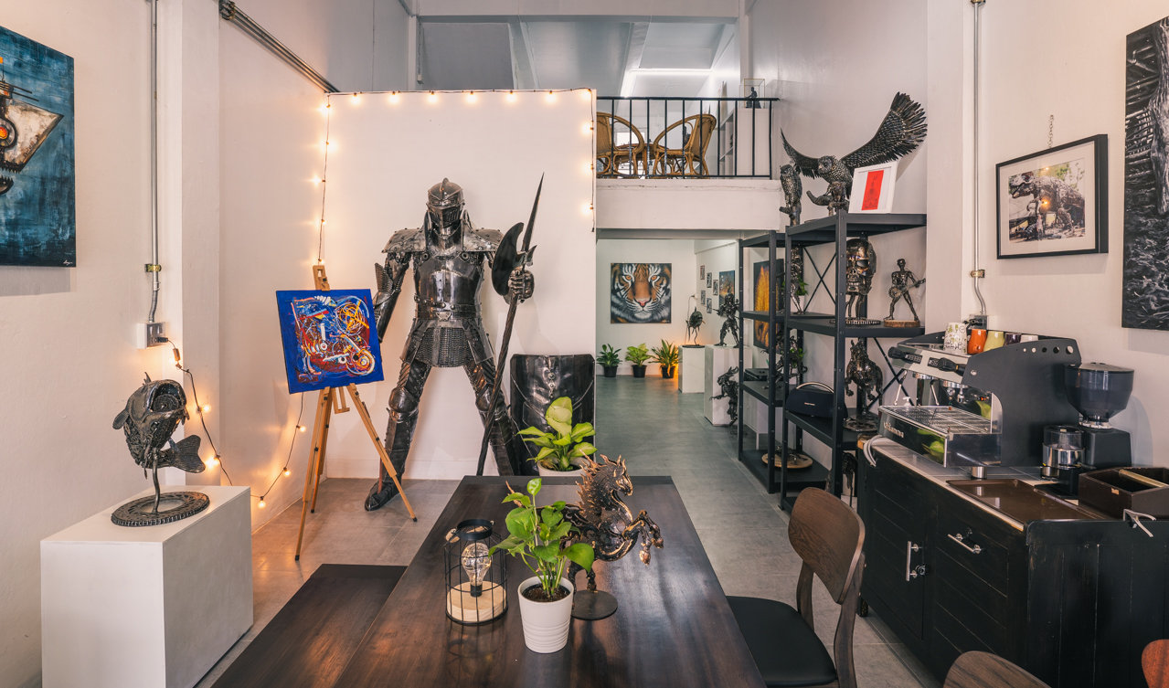 Mari9art metal art sculpture showroom