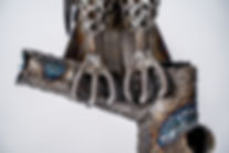 Standing owl metal art sculpture artwork
