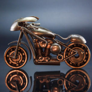 Sport bike metal art sculpture mari9art