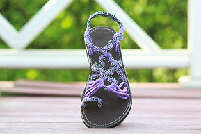 sandals for women bella design purple color by nittynice