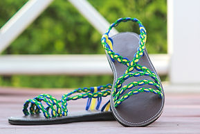 sandals for women fairy style green yellow color by nittynice