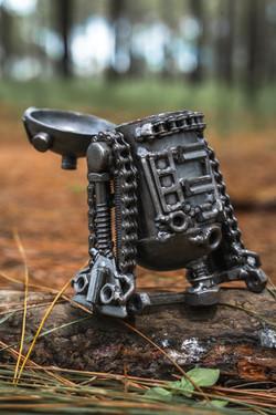 r2d2 starwar metal sculpture by mari9art