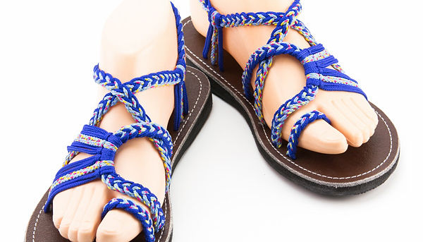 sandals for women sandy design blue color by nittynice