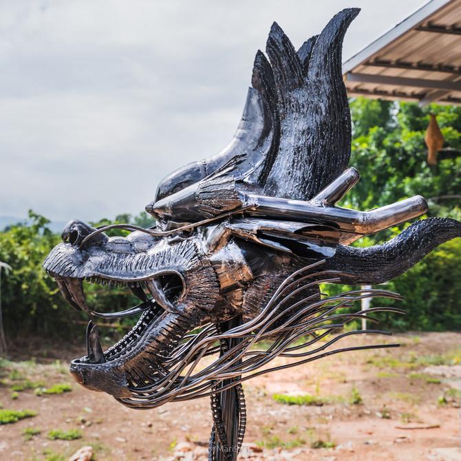 Scrap metal sculpture gallery Febuary
