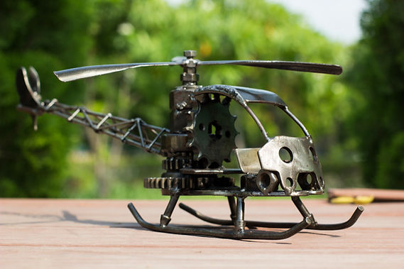 Helicopter bell model type 1 scrap metal sculpture 4