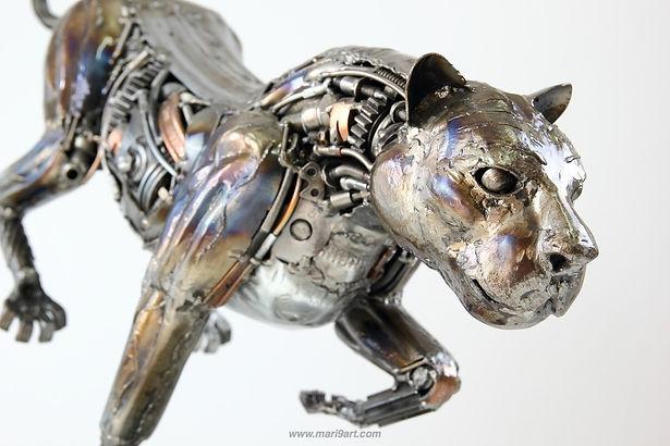 Lion metal artwork matal art sculpture