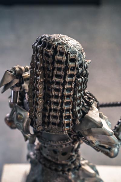 Predator 61cm metal sculpture by mari9art