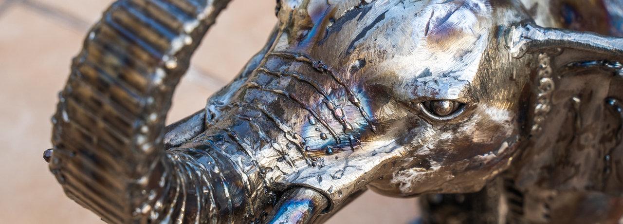 elephant metal art mari9art sculpture.jp