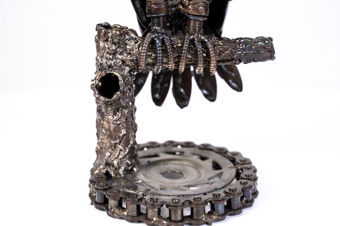 Owl small metal art sculpture artwork-7.