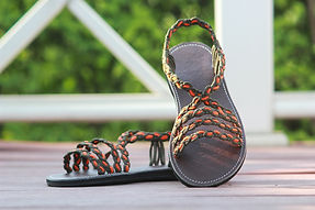 sandals for women fairy design orange green color by nittynice