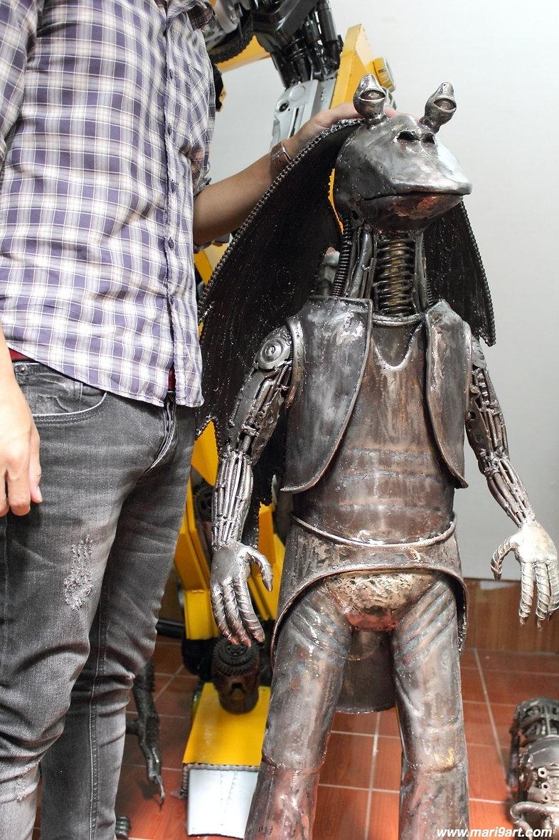 recycled metal art sculpture