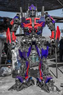 optimus transformer metal art sculpture mari9art-9.jpg