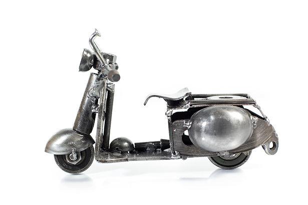 Vespa motorcycle model scrap sculpture 2