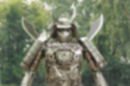 Samurai warriors metal art zoom face