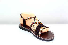 sandals for women daisy design brown white color by nittynice