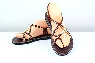sandals for women karen design brown cream color by nittynice