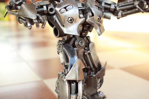 30cm Bumblebee scrap metal sculpture zoom body