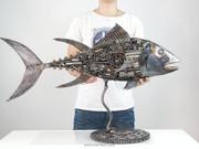 Tuna Fish Metal Sculpture