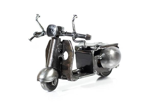 Vespa motorcycle model scrap sculpture 5