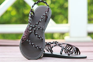 sandals for women lolita design brown white color by nittynice