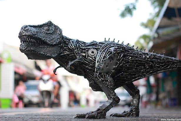 Metal art animal sculpture for sale, left