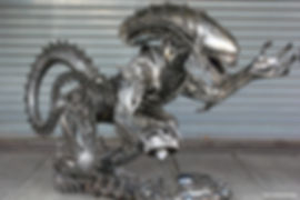 Best Alien metal art sculpture table