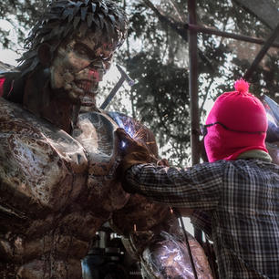 Hulk large metal art sculpture mari9art