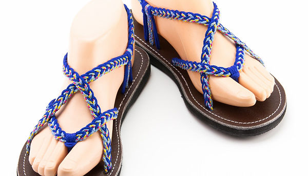sandals for women paula design blue color by nittynice