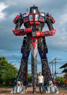 Transformer large metal sculpture