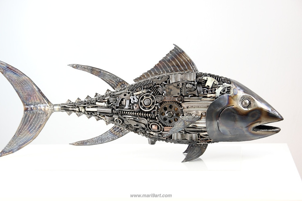 Fish metal sculpture