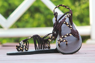 sandals for women nancy design brown cream color by nittynice