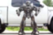 Bumblebee metal sculpture, scrap metal artwork full body
