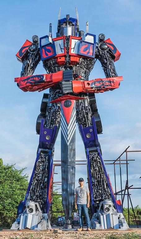 scrap metal large sculpture transformer