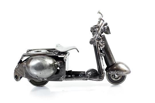 Vespa motorcycle model scrap sculpture 1