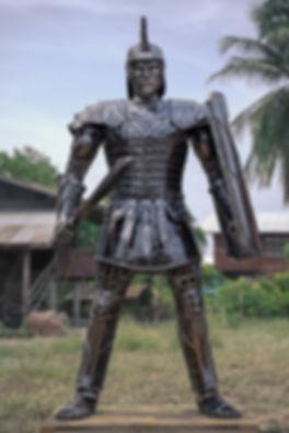 roman metal sculpture full body
