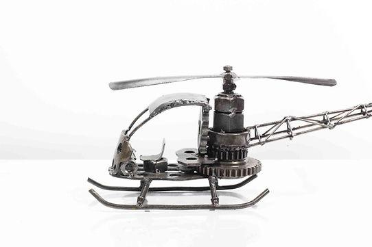 Helicopter bell model type 2 scrap metal sculpture 1