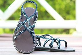 sandals for women ava style blue color by nittynice
