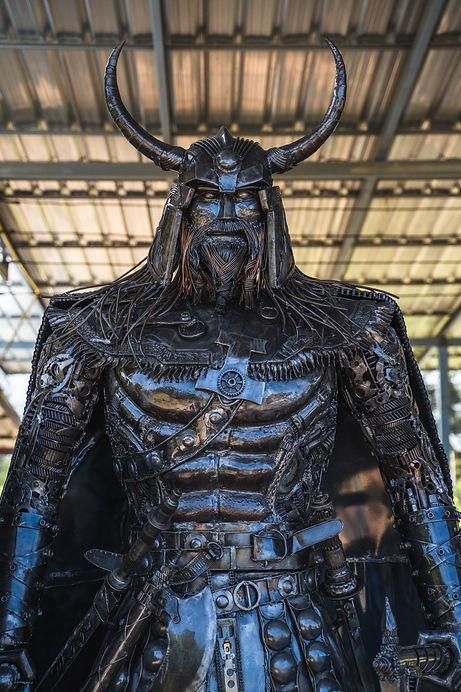 viking metal artwork body face