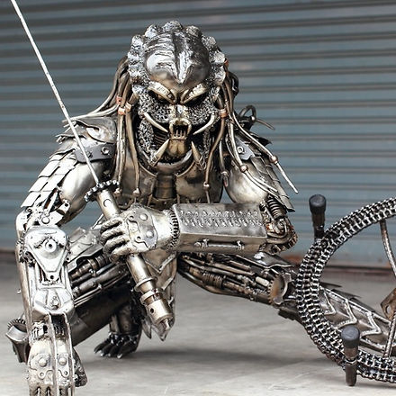 Predator Alien movie metal art sculpture 2