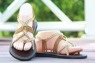 sandals for women luna design light yellow color by nittynice
