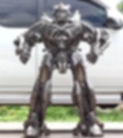 Cool bumblebee scrap metal sculpture in thailand