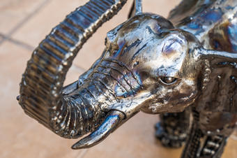 elephant metal art mari9art sculpture-12