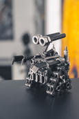 Wall E metal sculpture