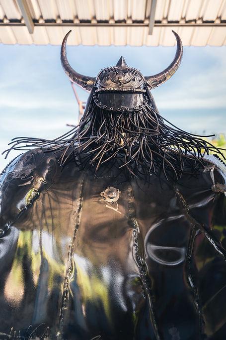viking metal artwork back side