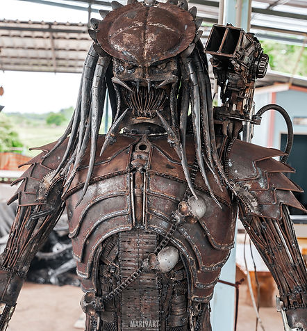 scrap metal predator rusty look by mari9art