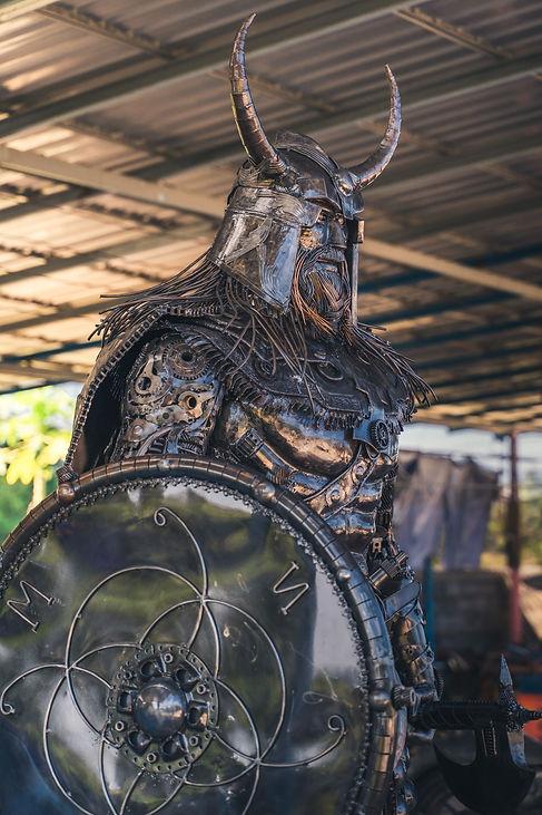 Turn junk into metal art viking