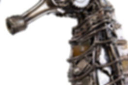 seahorse metal art sculpture