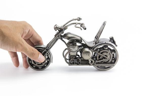 Chumps chopper bike model scrap sculpture made from scrap steel 5