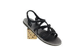 sandals for women emmy style black color by nittynice