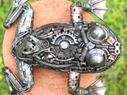 Frog scrap metal artwork